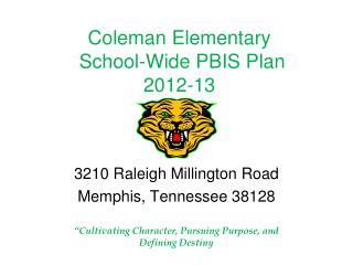 Coleman Elementary School-Wide  PBIS Plan 2012-13