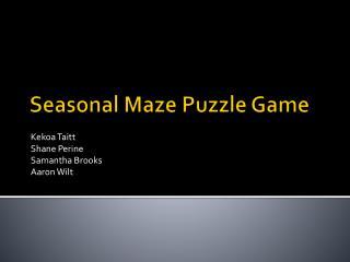 Seasonal Maze Puzzle Game