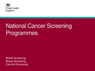 National Cancer Screening Programmes