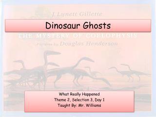 Dinosaur Ghosts