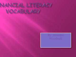 Financial Literacy Vocabulary