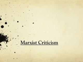 Marxist Criticism