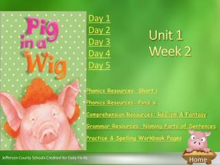 Unit 1  Week 2
