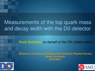 Measurements of the top quark mass and  decay width  with the D0 detector