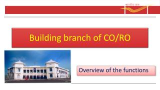 Building branch of CO/RO