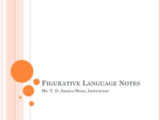Figurative Language Notes