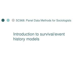 SC968: Panel Data Methods for Sociologists