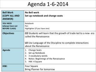 Agenda 1-6-2014