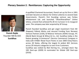 Paresh Rajde Founder MD & CEO Suvidhaa