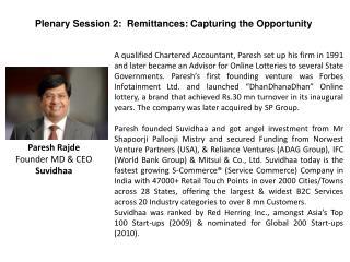 Paresh Rajde Founder MD & CEO Suvidhaa