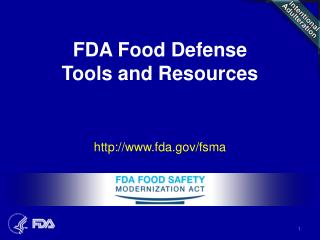 FDA Food Defense  Tools and Resources