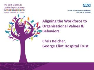 Aligning the Workforce to Organisational Values & Behaviors Chris Belcher,