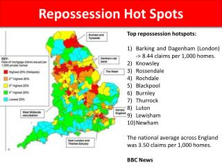 Repossessions Hotspots