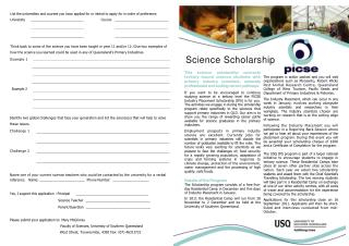Science Scholarship