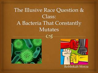 The Illusive Race Question & Class: A Bacteria That Constantly Mutates