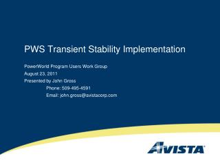 PWS Transient Stability Implementation