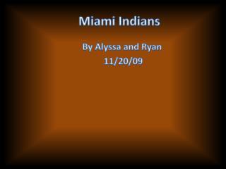 Miami Indians