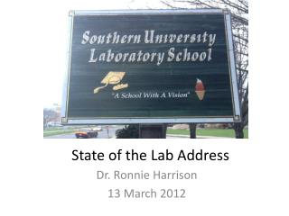 State of the Lab Address