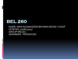 BEL 260