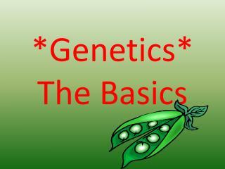 * Genetics * The Basics