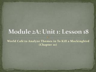 Module 2A: Unit 1: Lesson 18