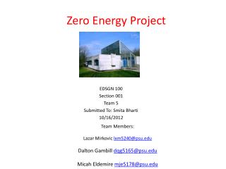 Zero  Energy Project