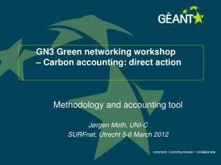 GN3 Green networking workshop � Carbon accounting: direct action
