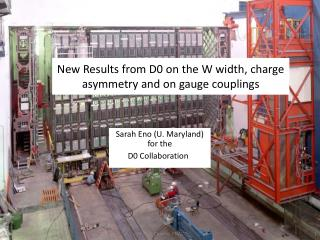 New Results from D0 on the W width, charge asymmetry and on gauge couplings