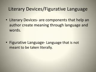 Literary Devices/Figurative Language
