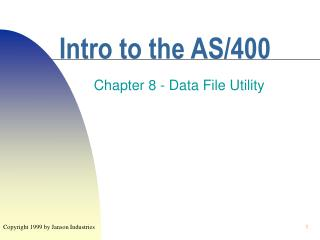 Intro to the AS