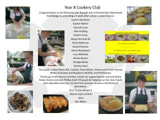 Year 8 Cookery Club