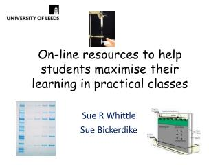 On-line  resources to help students maximise their learning in practical classes
