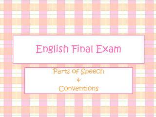 English Final Exam