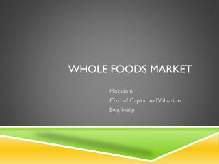 Whole Foods Long Term Debt To Capital