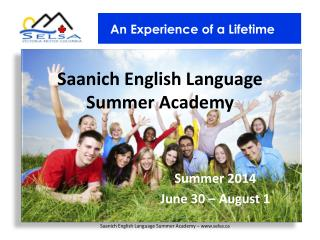 Saanich English Language Summer Academy
