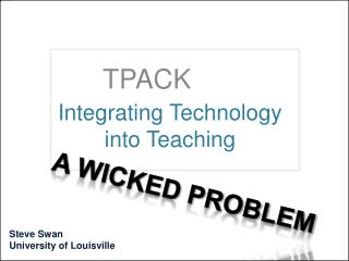 Integrating Technology into Teaching