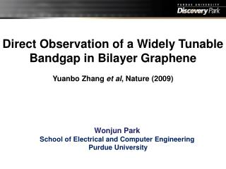 Direct Observation of a Widely Tunable  Bandgap  in  Bilayer Graphene