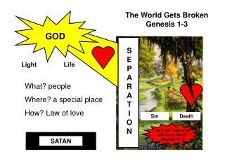 The World Gets Broken          Genesis 1-3