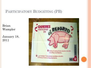 Participatory Budgeting (PB)