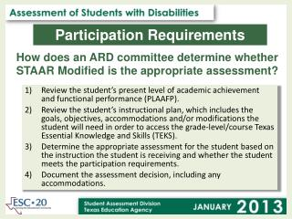 How does an ARD committee determine whether STAAR Modified is the appropriate assessment?