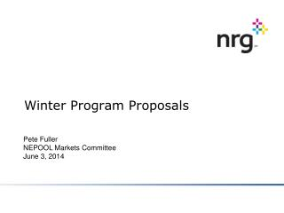 Winter Program Proposals