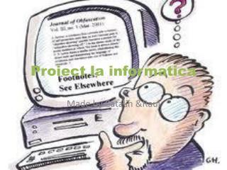 Proiect la informatica