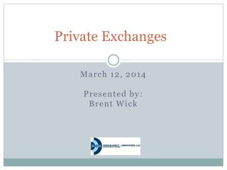 Private Exchanges