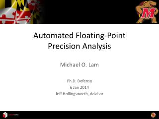 Automated Floating-Point Precision Analysis