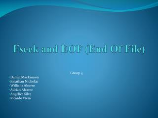 Fseek and EOF (End Of File)