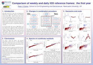 Comparison of weekly and daily IGS reference frames:  the first year