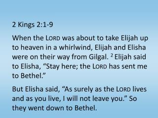 2 Kings 2:1-9