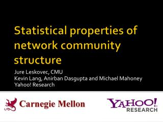 Statistical properties of network community structure