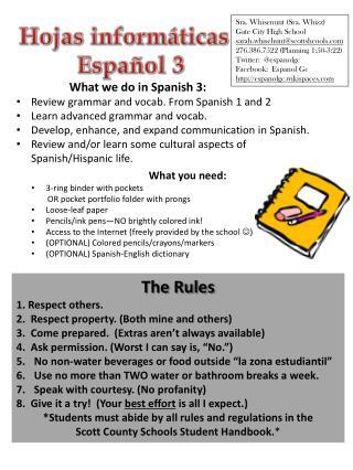 Hojas informáticas Español  3