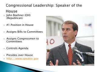 Congressional Leadership: Speaker of the House